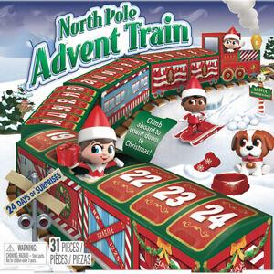 Christmas Elf On The Shelf North Pole Advent Train Countdown Calendar Blind Box