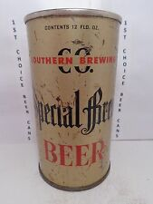 SPECIAL BREW FLAT TOP BEER CAN #135-3-B  SOUTHERN BREWING LOS ANGELES, CA.