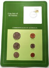 Coin Sets of All Nations Set in Postmarked card - Australia