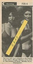 1978 Initiation Of Sarah Tv Guide Ad Clipping Kay Lenz Morgan Brittany Bikini