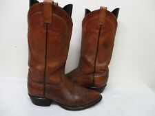 TONY LAMA Brown Leather Cowboy Boots Mens Size 8 EE Style 5084