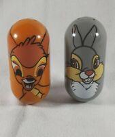 Disney Kelloggs Lot Beanz Weeble Wobble Bambi #5 and Thumper #44 Bambi