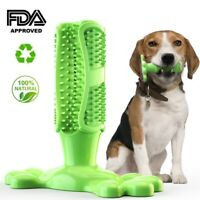 Dog Cleaning Toothbrush Chew Stick Silicone Pet Brushing Oral Dental Care Toys