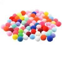 300Pcs DIY Poms Soft Fluffy Balls Acrylic Felt Card Embellishments Kids