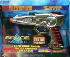 2001 SPACE WARRIORS TOY LASER GUN / PISTOL, Works Perfect, Lights, Action Sounds