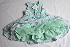 GIRL'S  3-6 MONTHS PRETY NEXT GREEN BABY GIRL'S DRESS  NEW WITH TAG