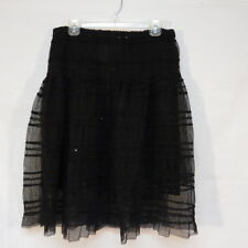 Fashion Fuse Skirt Black Sequin Lace Size L Lined NWT Tutu Style