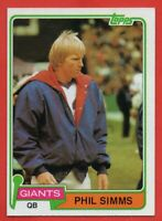 1981 Topps #55 Phil Simms NEAR MINT New York Giants FREE SHIPPING