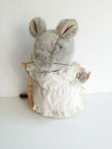 Vintage Eden Beatrix Potter Hunca Munca Mouse w/Broom Plush Stuffed Animal w/Tag