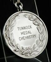Silver CHEMISTRY Medal, Pocket Watch Fob, W H Darby & Sons Ltd 1992