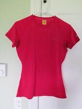 Icebreaker 150 short sleeve shirt pink 100% merino - womens M/S