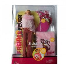 BARBIE FASHION FEVER Bambola con Rosa SOFFICI NOTEBOOK & Glitter Matite per voi...