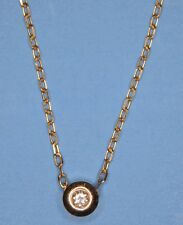 "Beautiful Solid 14K Yellow Gold Genuine Diamond Floating Pendant w/ 18"" Necklace"