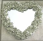 HEART MIRROR MADE OF WHITE SHABBY CHIC ROSES BY  DECOLINE NEW YORK