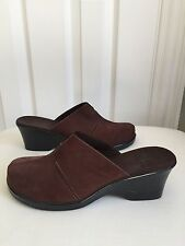Clark's Brown Suede Slip On Wedge Shoes - Size 9 1/2 - NEW