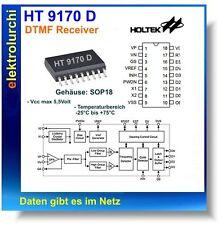 HT9170D - DTMF Receiver, SOP18, IC SMD HT 9170 D , Holtek, 1St