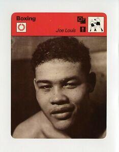 #TN09912 JOE LOUIS 1970'S Sportscaster Boxing Card