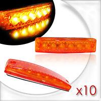 10 Feux de Gabarit 12V Orange 6 LED Arrière Avant Pour Travaux Public Voiture