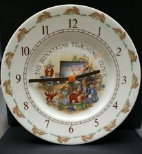 Vtg 1984 Bunnykins Teaching Clock. Royal Doulton English Fine Bone China