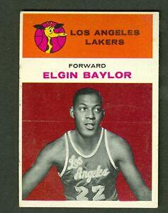Elgin Baylor 1961 Fleer NBA Basketball Rookie Card # 3 Lakers