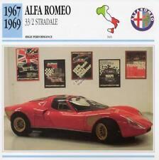 1967-1969 ALFA ROMEO 33/2 STRADALE Classic Car Photo/Info Maxi Card