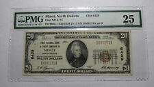 $20 1929 Minot North Dakota ND National Currency Bank Note Bill Ch #6429 VF25!