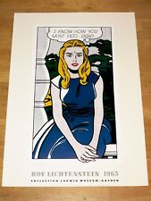 """ROY LICHTENSTEIN EXHIBITION POSTER """" I KNOW HOW YOU MUST FEEL, BRAD... """" 1990"""