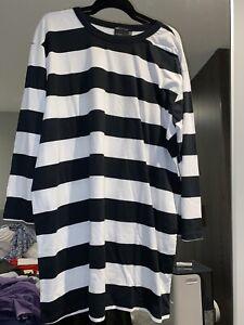 Asos Striped Oversized Tshirt / Tunic - Size 12