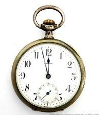 Antique  Omega Grand Prix 1900 .800 Fine Silver 14s Pocket Watch To Fix