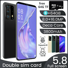 Sale P46 Plus Android 9.1 Smartphone Unlocked 5.8 Inches Large Memory 6GB+64GB
