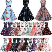 Hepburn 50s Ladies Pin Up Swing Cocktail Evening Party Rockabilly Vintage Dress
