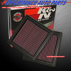 Two K&N 33-2399 Hi-Flow Air Intake Drop In Filters for G35 G37 350Z 370Z QX50