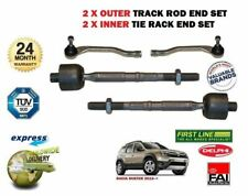 FOR DACIA DUSTER 2012->NEW 2X OUTER +2x INNER TRACK RACK TIE ROD END SET