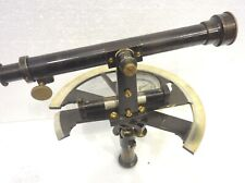 RARE ANTIQUE 19TH C. CASED GERMAN TELESCOPE GRAPHOMETER SURVEYING PRE THEODOLITE