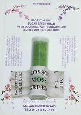 Sugarflair Moss Green Blossom Tint Powder, 7ml, Edible Food Colour Dust