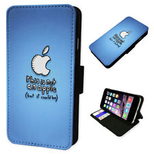 This Is Not An Apple Blue - Flip Phone Case Wallet Cover Fits Iphone 6 7 8 X 11