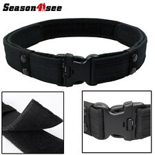 Heavy Duty Security Guard Paramedic Army Police Utility Belt Quick Release Black