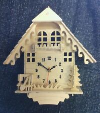 4-Cuckoo Clock wood Kit Craft-W/Quartz clock motor-unassembled-FREE NUMBER SETS