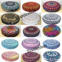 """Round Mandala 35""""  Floor Cushion Cover Pillow Meditation Case Uk Bohemian Large"""