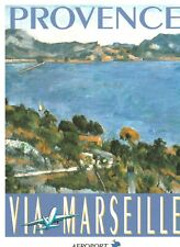 Affiche touristique de Marseille  travel ad poster living room wall ideas