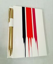 Cynthia Rowley Mini Notebook, Memo Pad with RT Gold Pen Desk Notes 4.5 x 6""