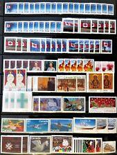 90 uncancelled Canadian postage stamps, no gum, total face value $38.54