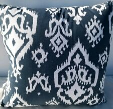 "Hallmart Collectibles Ikat Medallion 18"" Decorative Pillow- Blue"