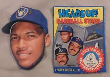 1990 TOPPS HEADS UP PIN-UPS GARY SHEFFIELD BREWERS