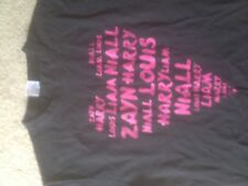 Girl's 1D Black, Short Sleeved T- Shirt. Fruit Of The Loom. Age 12-13 Years.