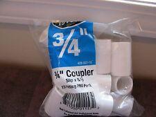 """3/4 """" inch PVC Coupler """"New Bag of 15"""" Plumbing,Sprinkler,Supplies Slip x Slip"""