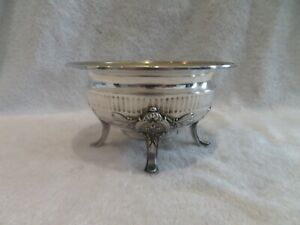 Gorgeous 19th c French 950 silver footed bowl for tea coffee set Odiot Louis XVI