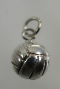 Sterling Silver Volleyball Traditional Dangle Charm