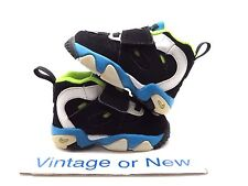 Nike Air Diamond Turf II 2 Black Blue Volt White 488297-034 TD sz 4C