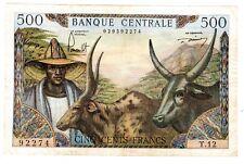 Cameroun BANQUE CENTRALE Billet  500 FRANCS ND 1962  P11 VF / BON ETAT